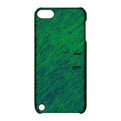 Deep Green Pattern Apple Ipod Touch 5 Hardshell Case With Stand by Valentinaart