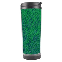 Deep Green Pattern Travel Tumbler by Valentinaart