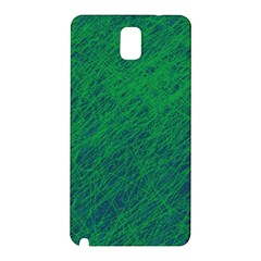 Deep Green Pattern Samsung Galaxy Note 3 N9005 Hardshell Back Case by Valentinaart