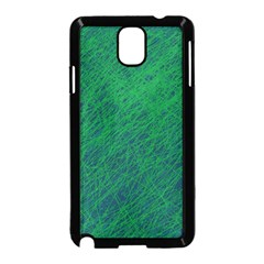 Deep Green Pattern Samsung Galaxy Note 3 Neo Hardshell Case (black) by Valentinaart