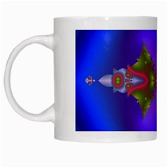 Into The Blue Fractal White Mugs by Fractalsandkaleidoscopes