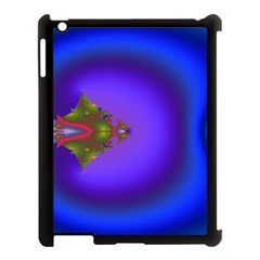 Into The Blue Fractal Apple Ipad 3/4 Case (black) by Fractalsandkaleidoscopes