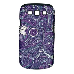 Purple Hippie Flowers Pattern, Zz0102, Samsung Galaxy S Iii Classic Hardshell Case (pc+silicone) by Zandiepants
