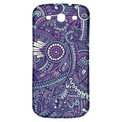 Purple Hippie Flowers Pattern, Zz0102, Samsung Galaxy S3 S Iii Classic Hardshell Back Case by Zandiepants