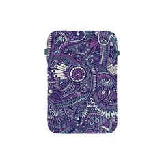 Purple Hippie Flowers Pattern, Zz0102, Apple Ipad Mini Protective Soft Case by Zandiepants