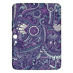 Purple Hippie Flowers Pattern, Zz0102, Samsung Galaxy Tab 3 (10 1 ) P5200 Hardshell Case  by Zandiepants