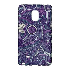 Purple Hippie Flowers Pattern, Zz0102, Samsung Galaxy Note Edge Hardshell Case by Zandiepants
