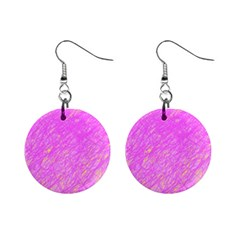 Pink Pattern Mini Button Earrings