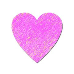 Pink Pattern Heart Magnet by Valentinaart