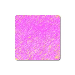 Pink Pattern Square Magnet by Valentinaart