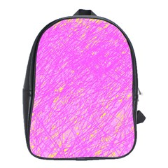 Pink Pattern School Bags(large)  by Valentinaart