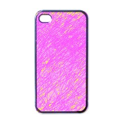 Pink Pattern Apple Iphone 4 Case (black) by Valentinaart