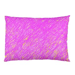 Pink Pattern Pillow Case (two Sides) by Valentinaart