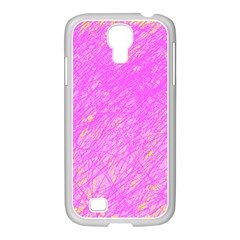 Pink Pattern Samsung Galaxy S4 I9500/ I9505 Case (white) by Valentinaart