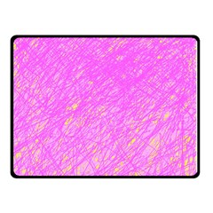 Pink Pattern Double Sided Fleece Blanket (small)  by Valentinaart