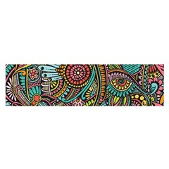 Colorful Hippie Flowers Pattern, Zz0103 Satin Scarf (oblong) by Zandiepants