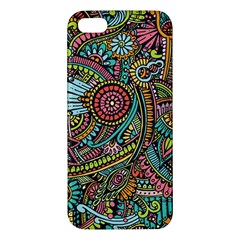 Colorful Hippie Flowers Pattern, Zz0103 Apple Iphone 5 Premium Hardshell Case by Zandiepants