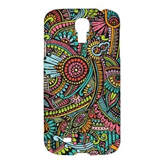Colorful Hippie Flowers Pattern, Zz0103 Samsung Galaxy S4 I9500/i9505 Hardshell Case by Zandiepants