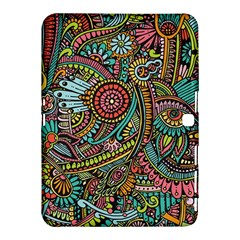 Colorful Hippie Flowers Pattern, Zz0103 Samsung Galaxy Tab 4 (10 1 ) Hardshell Case  by Zandiepants