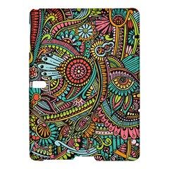 Colorful Hippie Flowers Pattern, Zz0103 Samsung Galaxy Tab S (10 5 ) Hardshell Case  by Zandiepants