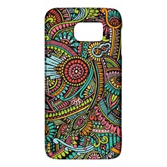 Colorful Hippie Flowers Pattern, Zz0103 Samsung Galaxy S6 Hardshell Case  by Zandiepants