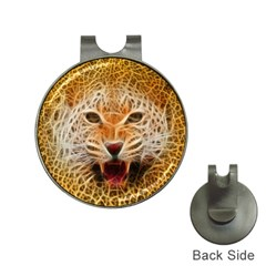 Electrified Fractal Jaguar Golf Ball Marker Hat Clip by TheWowFactor