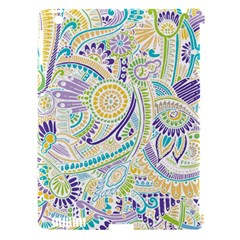 Purple, Green, Yellow Hippie Flowers Pattern, Zz0104, Apple Ipad 3/4 Hardshell Case (compatible With Smart Cover) by Zandiepants