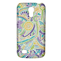Purple, Green, Yellow Hippie Flowers Pattern, Zz0104, Samsung Galaxy S4 Mini (gt I9190) Hardshell Case  by Zandiepants