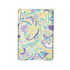 Purple, Green, Yellow Hippie Flowers Pattern, Zz0104, Apple Ipad Mini 2 Hardshell Case by Zandiepants