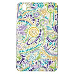 Purple, Green, Yellow Hippie Flowers Pattern, Zz0104, Samsung Galaxy Tab Pro 8 4 Hardshell Case by Zandiepants