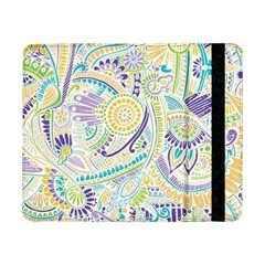 Purple, Green, Yellow Hippie Flowers Pattern, Zz0104, Samsung Galaxy Tab Pro 8 4  Flip Case by Zandiepants