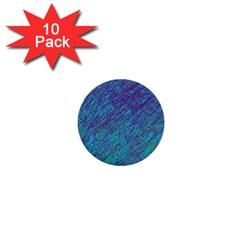 Blue Pattern 1  Mini Buttons (10 Pack)  by Valentinaart