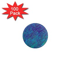 Blue Pattern 1  Mini Magnets (100 Pack)  by Valentinaart