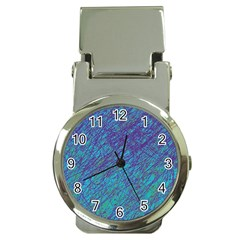 Blue Pattern Money Clip Watches