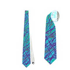 Blue Pattern Neckties (one Side)  by Valentinaart