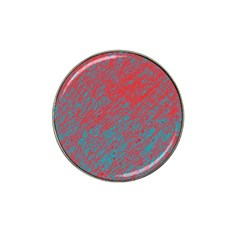 Red And Blue Pattern Hat Clip Ball Marker (10 Pack) by Valentinaart