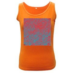 Red And Blue Pattern Women s Dark Tank Top by Valentinaart