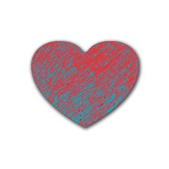 Red And Blue Pattern Heart Coaster (4 Pack)  by Valentinaart