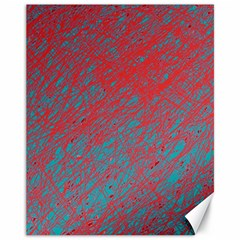 Red And Blue Pattern Canvas 11  X 14   by Valentinaart