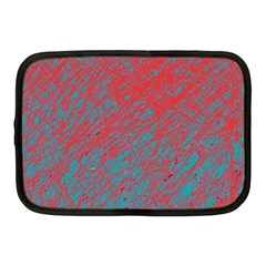 Red And Blue Pattern Netbook Case (medium)  by Valentinaart