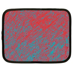 Red And Blue Pattern Netbook Case (xl)  by Valentinaart