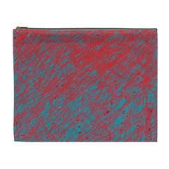 Red And Blue Pattern Cosmetic Bag (xl) by Valentinaart