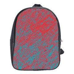Red And Blue Pattern School Bags(large)  by Valentinaart