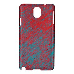 Red And Blue Pattern Samsung Galaxy Note 3 N9005 Hardshell Case by Valentinaart