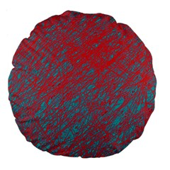 Red And Blue Pattern Large 18  Premium Flano Round Cushions by Valentinaart