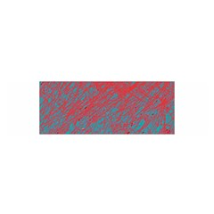 Red And Blue Pattern Satin Scarf (oblong)