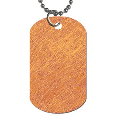 Orange Pattern Dog Tag (one Side) by Valentinaart