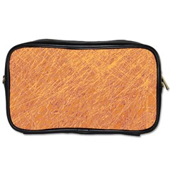 Orange Pattern Toiletries Bags