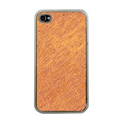 Orange Pattern Apple Iphone 4 Case (clear) by Valentinaart