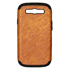 Orange Pattern Samsung Galaxy S Iii Hardshell Case (pc+silicone) by Valentinaart